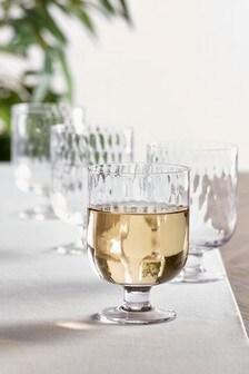 Kya Set mit 4 Weingläsern