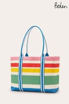 Синяя большая парусиновая сумка-тоут Boden Olivia