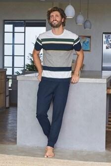 Stripe Cuffed Pyjama Set