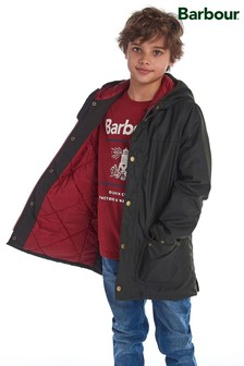 Barbour®Durham 男孩蠟面外套