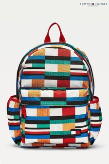 Tommy Hilfiger Blue Printed Backpack