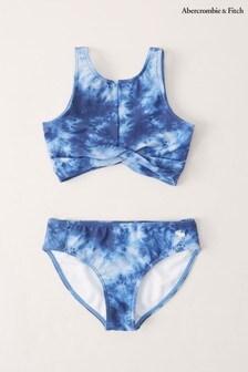Abercrombie & Fitch Blue Tie Dye Bikini Set