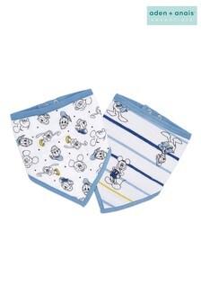 Lot de 2 bavoirs bandana aden + anais Essentials Disney Mickey™ Stargazer