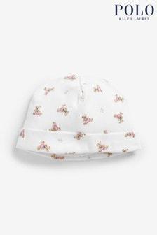 Ralph Lauren Mütze mit Bärendesign, Pink