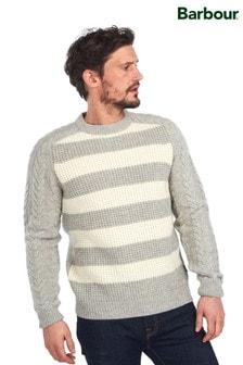סוודר עם צווארון עגול בסריגה עבה של Barbour® דגם Elver