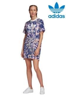 فستان تي شيرت صباغة بالربط منadidas Originals