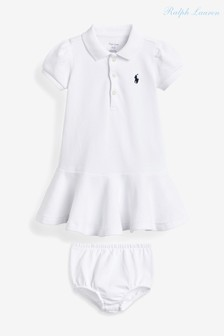 Ralph Lauren White Logo Polo Dress