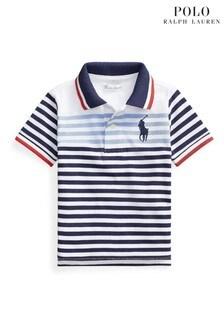 Ralph Lauren Navy Multi Striped Polo