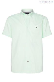 חולצת פסיםעם שרוול קצר מאריג אלכסוני בירוק דגםClassic שלTommy Hilfiger