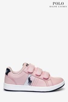 Polo Ralph Lauren Pink Velcro Ormond Trainers