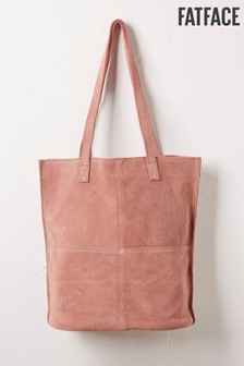 FatFace Pink Sienna Suede Tote