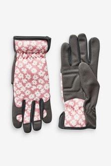 Floral Print Gardening Gloves