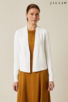 Jigsaw Cream Clean Knit Jacket