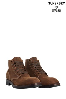 Superdry Tan Officer Boots