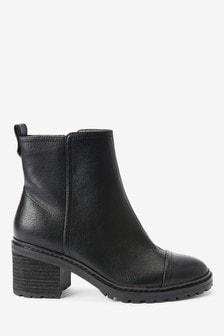 Forever Comfort® Cleat Heel Boots