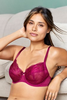 Lizzie Embroidered Non Padded Balcony Bras Two Pack