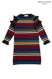 فستان مقلم ألوان متعددة قوس قزح منSonia Rykiel