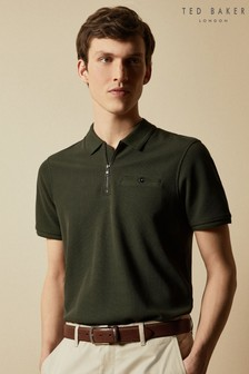 Ted Baker Dodgem Short Sleeved Zip Poloshirt