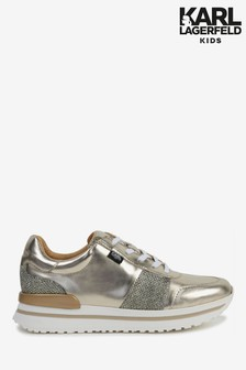 Karl Lagerfeld Gold Trainers
