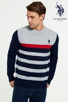 U.S. Polo Assn.針織圓領運動衫