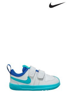 Nike White/Blue Pico Infant Trainers