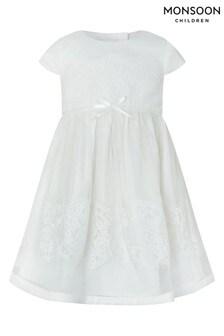 Monsoon Ivory Baby Alovette Christening Gown