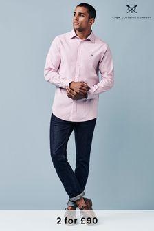Crew Clothing Company Pink Micro Stripe Shirt