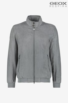 Geox Men's Blainey Grey Bomber Jacket