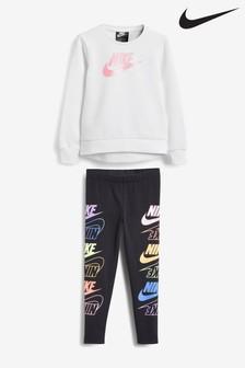 Nike Little Kids Futura Crew And Leggings Set