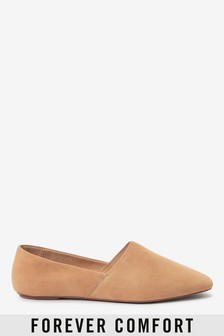 Leather High Cut Slip-On Shoes