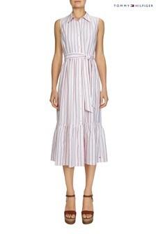 Tommy Hilfiger Pink Phoebe Midi Shirt Dress