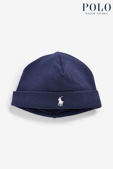 Ralph Lauren Baby Mütze, Marineblau