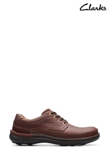 Clarks Mahogany Leather Nature Three Shoes