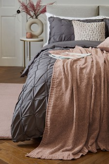 Blush Pink Supersoft Luxe Chenille Throw