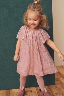 Shimmer Angel Sleeve Dress (3mths-7yrs)