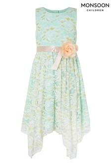 Zelené čipkované šaty Monsoon Josie
