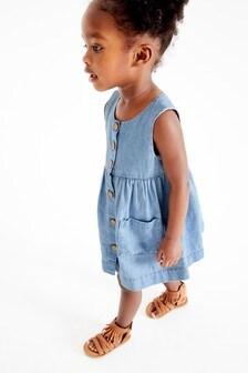 Šaty bez rukávov so zapínaním na gombíky (3 mes. – 7 rok.)
