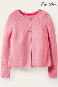 Mini Boden Pink Cotton Cashmere Cardigan