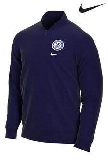 Tmavomodrý športový top Nike Chelsea FC