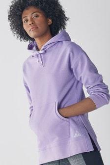 Sudadera con capucha con diseño largo
