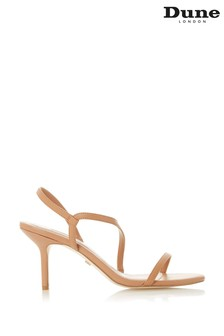Dune London Mojos Camel Leather Barely There Strappy Sandals