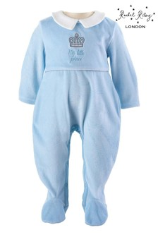Rachel Riley Blue My Little Prince Babygrow