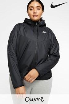 Nike Curve Wind Runner Jacke, Schwarz