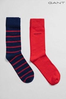 GANT Blue 2 Pack Double Breton Socks