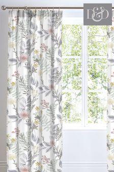 D&D White Maisie Pencil Pleat Curtains