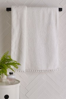 Handdoek met pompon
