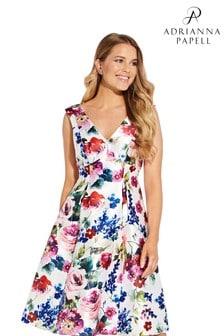 Adrianna Papell - Mikado midi-jurk met bloemenprint