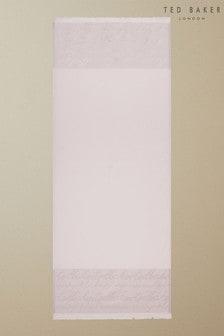 Ted Baker Teddiee Langer glänzender Schal mit Monogramm,Pink