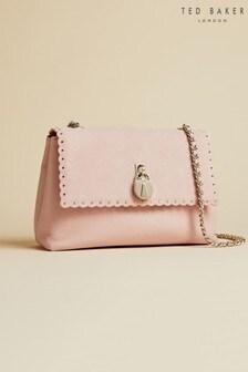 Ted Baker Pink Margiat Padlock Leather Cross Body Bag