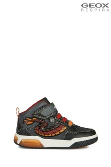 Geox Junior Unisex Inek Black/Red Velcro Sneakers
